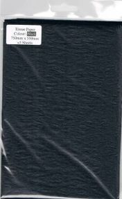 5 x Black Tissue Paper, Large Sheets - 750mm X 500mm - SC65